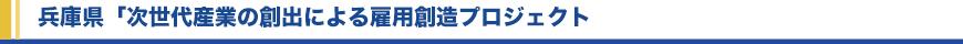 兵庫県「次世代産業の創出による雇用創造プロジェクト