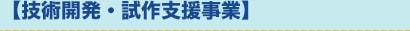 【技術開発・試作支援事業】